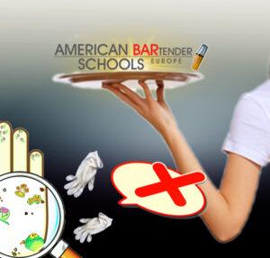 Barkeeper sollten unbedingt auf Hyhiene an der Bar achten. Achtung vor Keimen an und unter Handschuhen. Barkeeper arbeiten unhygienisch mit Einmalhandschuhen. Das arbeiten an der Bar. Vorsicht vor Keimen in der Gastronomie. Barkeeper erhöhensomit die Ansteckungsgefahr. Richtiges Handeln bei Corona.